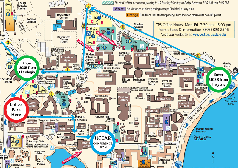 Ucsb Parking Map Transportation & Directions – Annual Conference 2018 Ucsb Parking Map